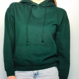 Brandy Melville cristy forest green hoodie